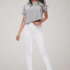 Yoga jeans skinny white in size 24
